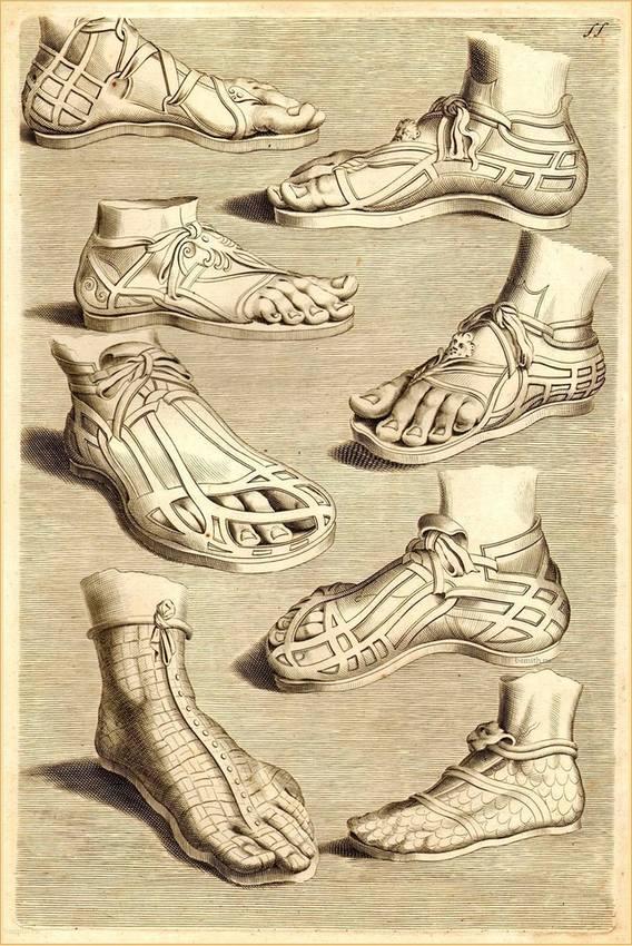 Древнеримские сандалии