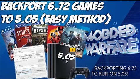 Backport 6.72 PS4 Games to 5.05