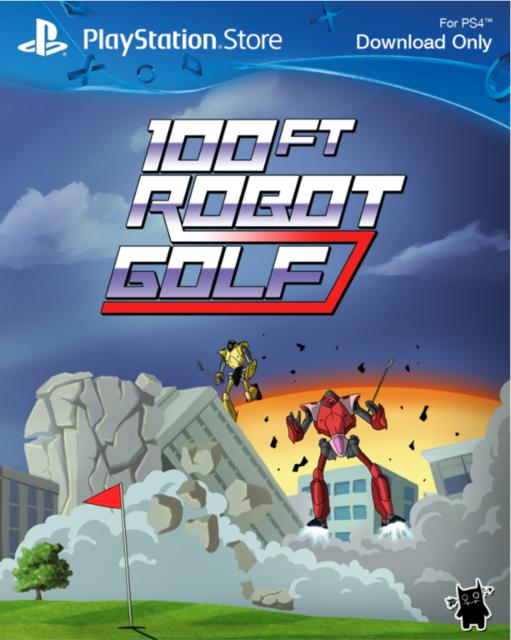 100ft Robot Golf PS4 PKG