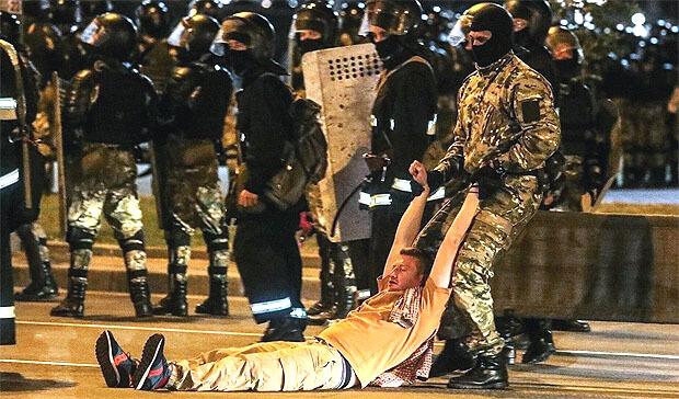 Скабеева похвалила избивающих протестующих белорусских силовиков - Новости радио OnAir.ru