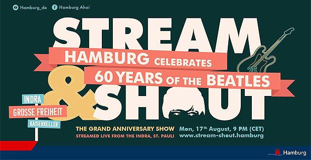 К 60-летию образования The Beatles из знаменитого клуба Indra будет организована прямая трансляция Stream and Shout - Новости радио OnAir.ru