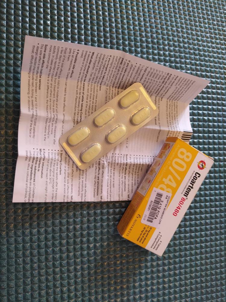 Продам Коартем (Coartem) от малярии в таблетках