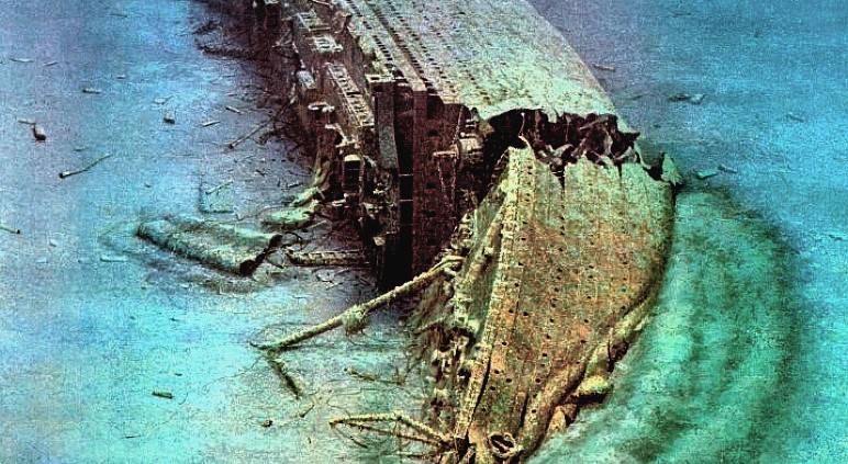 затонувший Британик