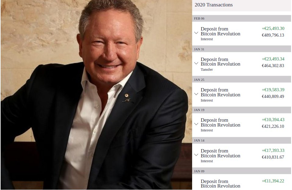 bitcoin trader andrew forrest)