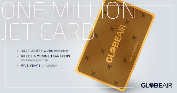 One Million Jet Card - GlobeAir for extreme travel flexibility and comfort