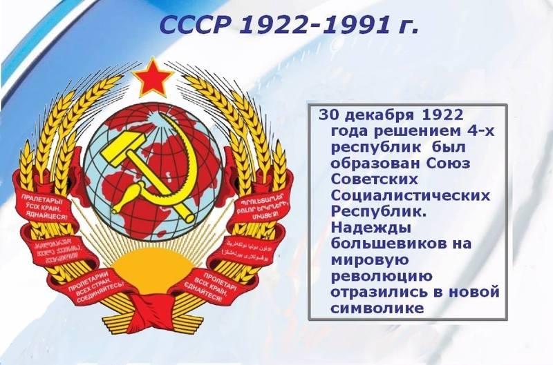 рождение СССР
