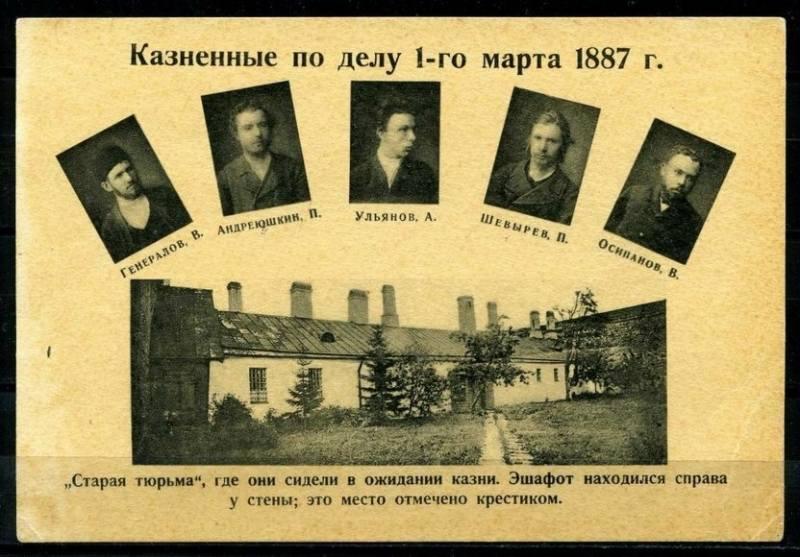 казненные 1 марта 1887 года