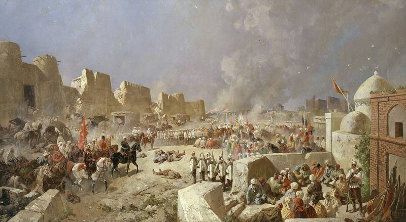 1280px-Karazin - Entry of Russian troops into Samarkand 1868