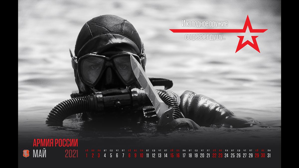 май «Информации и патронов много не бывает» (календарь Министерства обороны России на 2021 год)