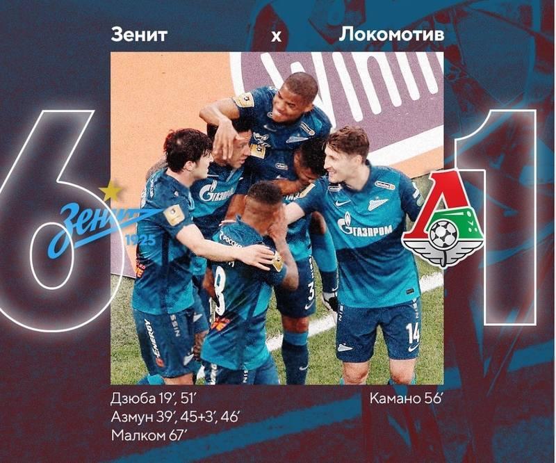 Зенит-Локомотив 6-1
