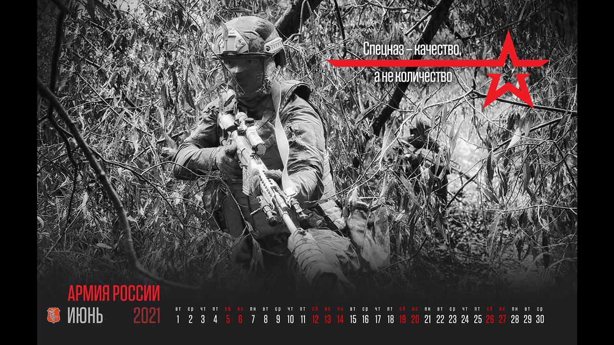 июнь «Информации и патронов много не бывает» (календарь Министерства обороны России на 2021 год)