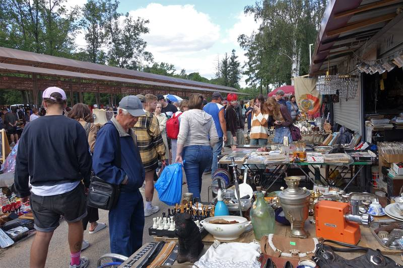 блошиный рынок в Петербурге