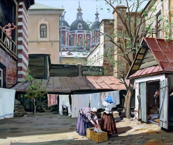 Матрешин Александр, «Утро в Москве», 2006 г.