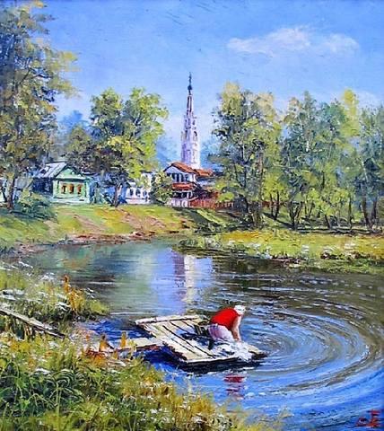 Художник Евгений Синев..