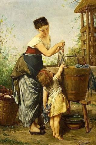 Художник Timoleon Marie Lobrichon (French 1831-1914)...