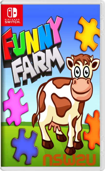 Funny Farm Animal Jigsaw Puzzle Game for Kids and Toddlers Switch NSP