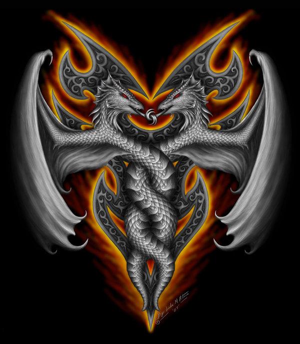 дракон близнец картинка основу