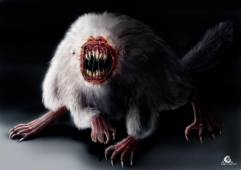 Картинка страшные звери